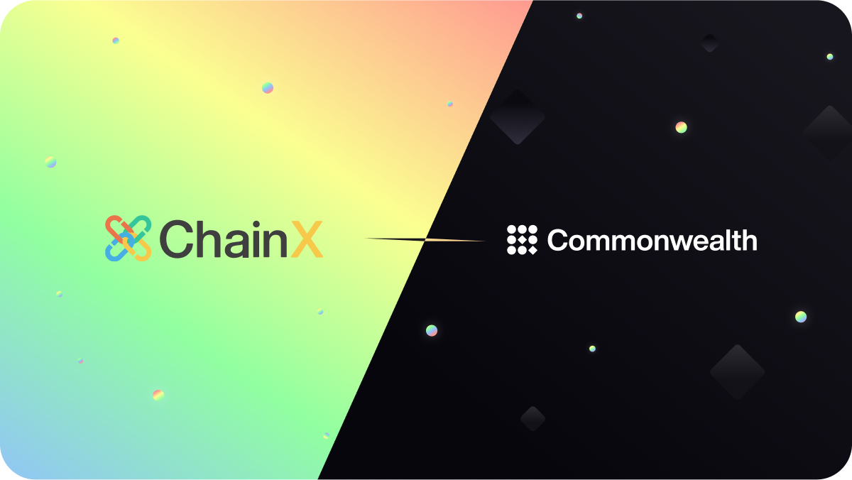 Commonwealth x ChainX Join Forces in New Partnership