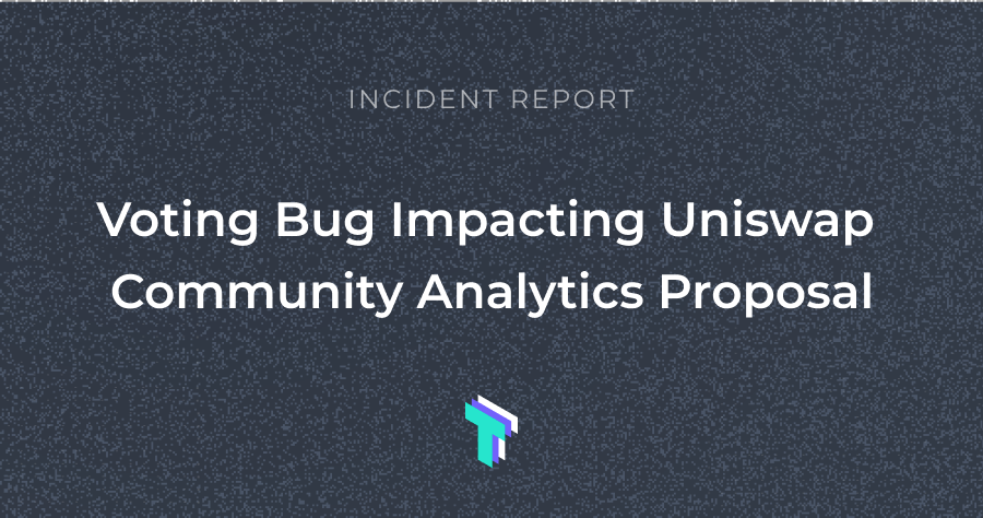 Last Week in Governance: Tally bug causes contentious Uniswap governance proposal to be canceled, Uniswap research report shows underlying tensions with Discord community, Althea launch Cosmos Gravity Bridge & more